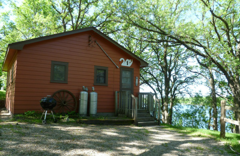 Cabin exterior at Swan Lake Resort.