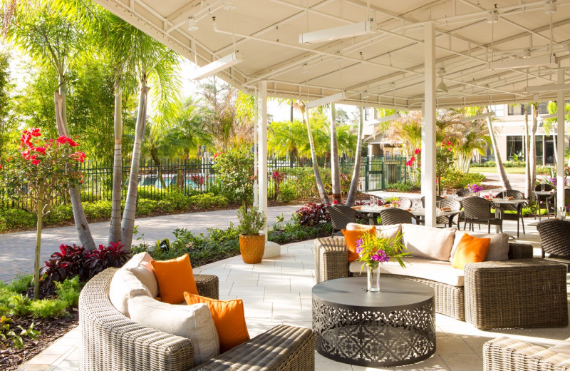 Patio at The Grove Resort & Spa.