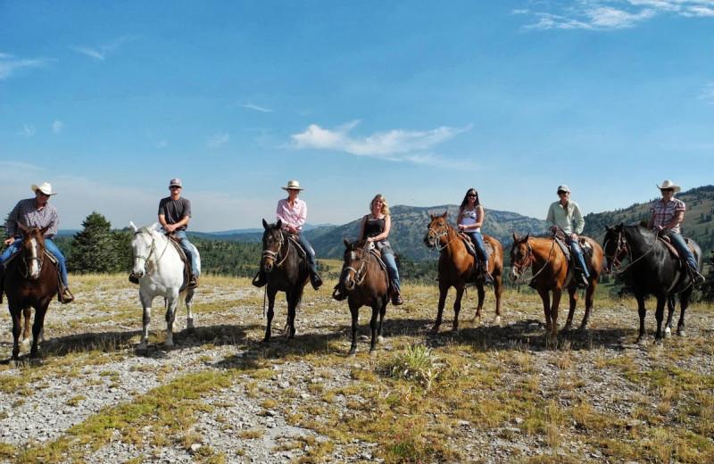 Horseback riding at Grand Targhee Resort.