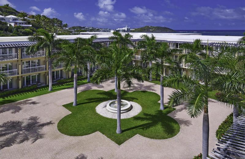 Courtyard at The Westin Dawn Beach Resort.
