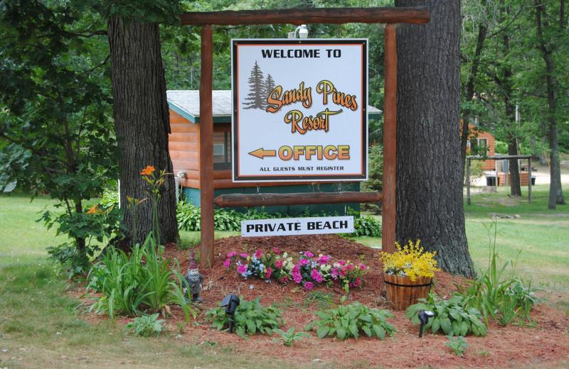 Exterior view of Sandy Pines Resort.