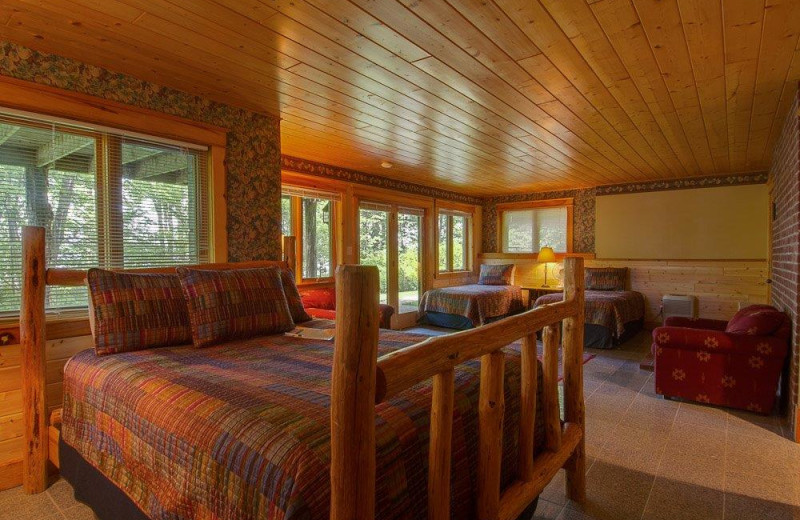 Guest room at Stout's Island Lodge.