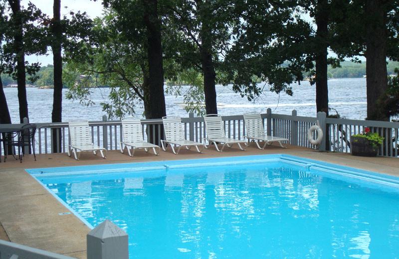 Outdoor pool at Mallard Point Resort.