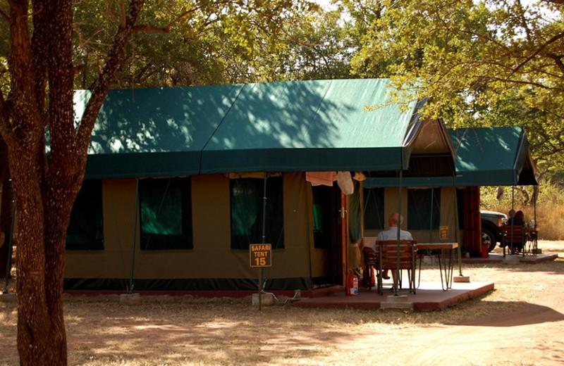 Manyane Resort tents at Golden Leopard Resorts.