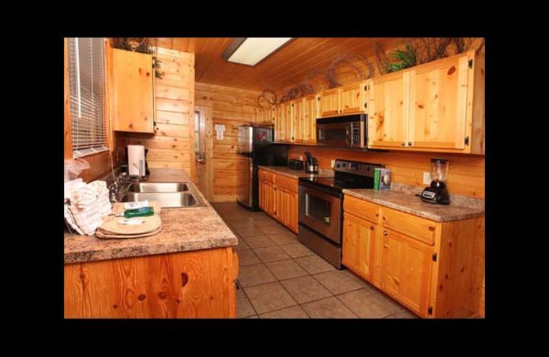 Cabin kitchen at Eden Crest Vacation Rentals, Inc. - Da' Crawfish Hole.