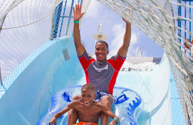 Water slide at Moody Gardens Hotel Spa & Convention Center.