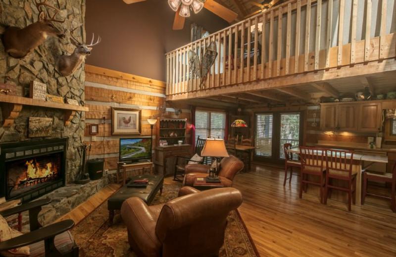 Rental living room at Foscoe Rentals.