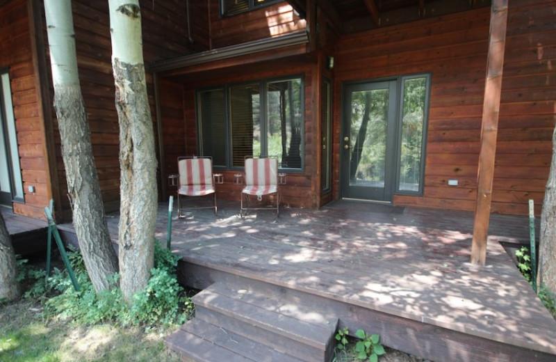 Cabin Porch at Boulder Brook on Fall River