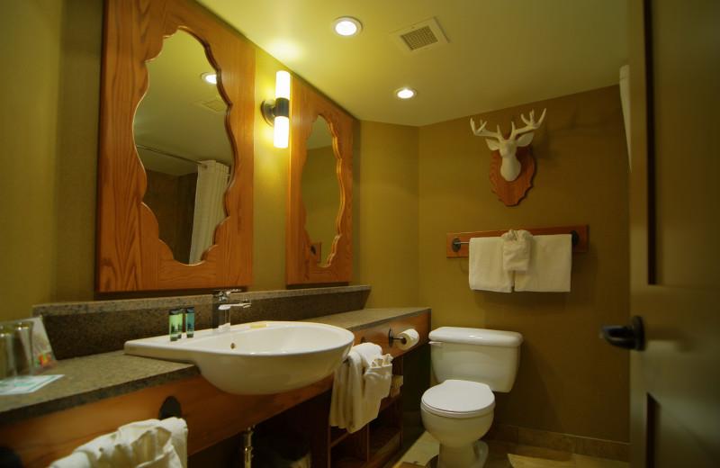 Guest bathroom at Banff Caribou Lodge & Spa.