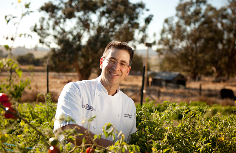 Cuisine cooked with local ingredients at The Carneros Inn.
