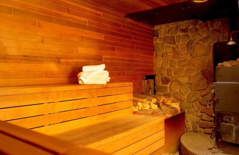 Sauna at Cariboos Lodge.