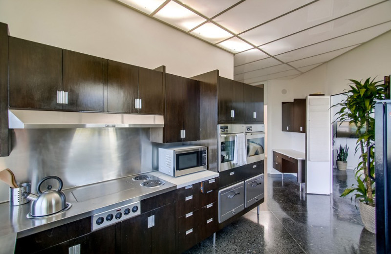 Rental kitchen at Cal Vacation Homes.