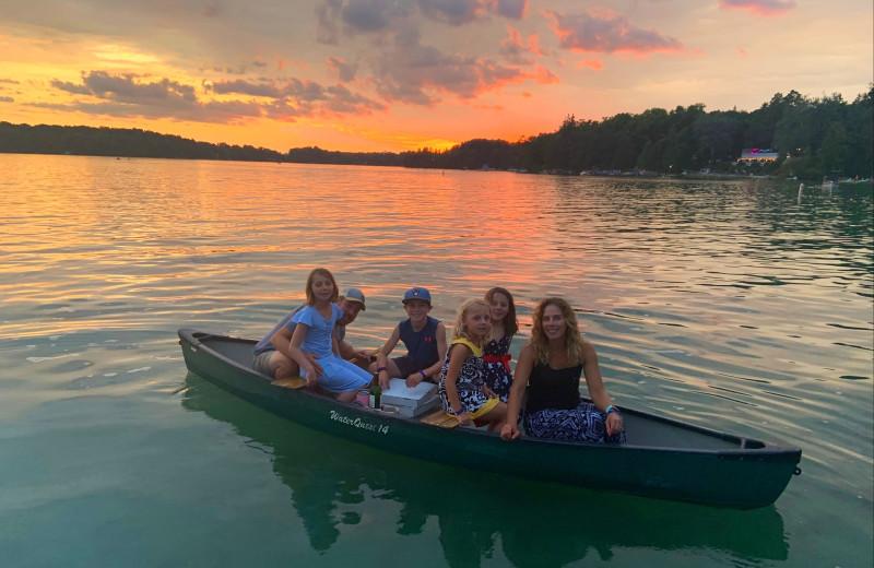 Canoe at The Osthoff Resort.