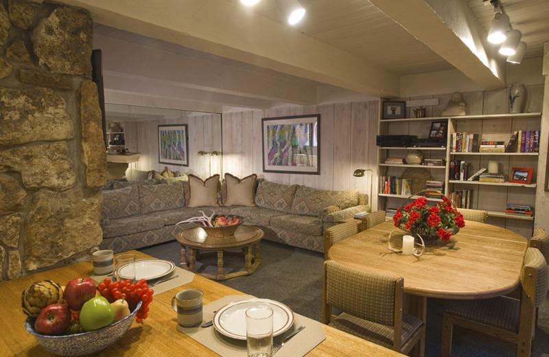 Rental living room at Frias Properties of Aspen - Chateau Roaring Fork #14.