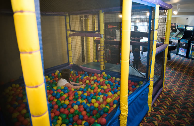 Ball pit at Bridgeport Waterfront Resort.