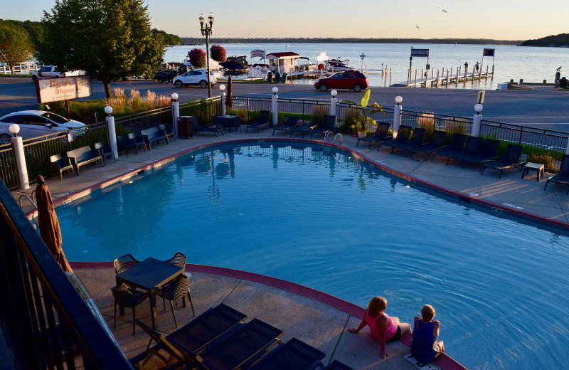 Outdoor pool at Harbor Shores on Lake Geneva.
