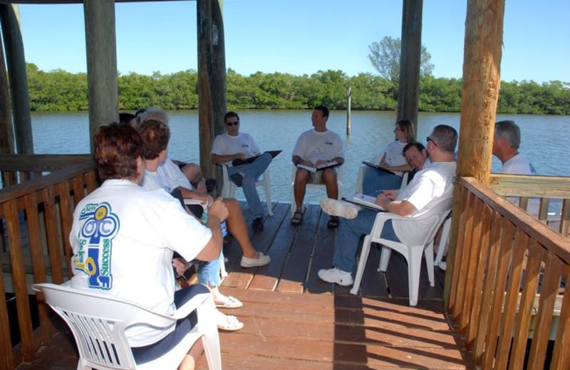 Group meeting at Palm Island Resort.