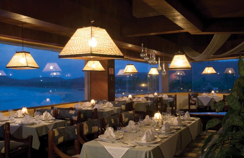 Dining at Blue Bay Club Los Angeles Locos.