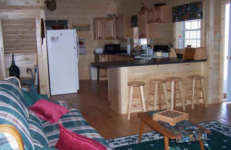 Cabin Interior at Sunrise Ridge Guide Service