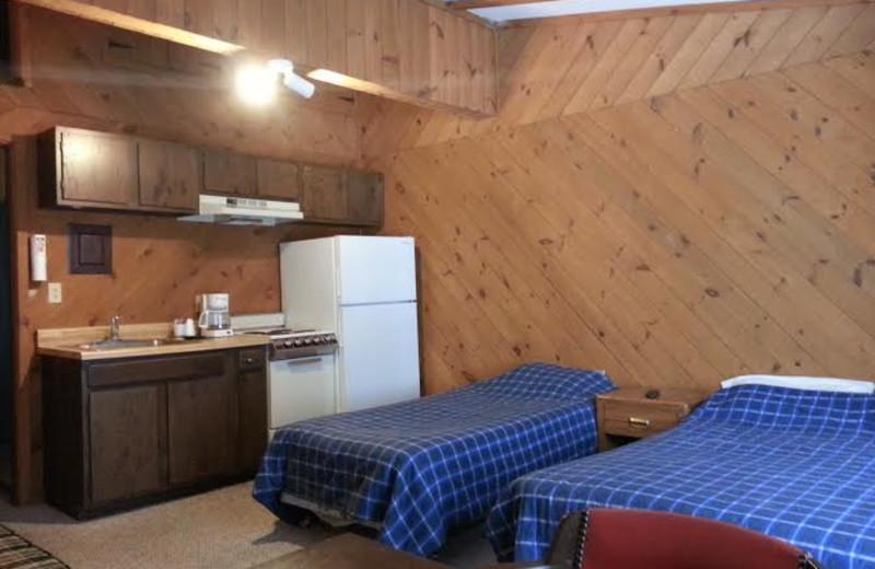 Guest room at Beaver Lodge Resort.