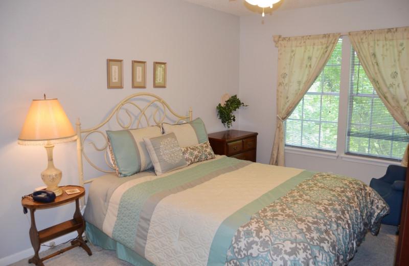 Rental bedroom at Hot Springs Village Rentals.