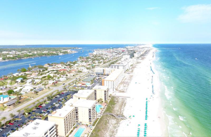 Aerial view of Nautilus Condominiums.