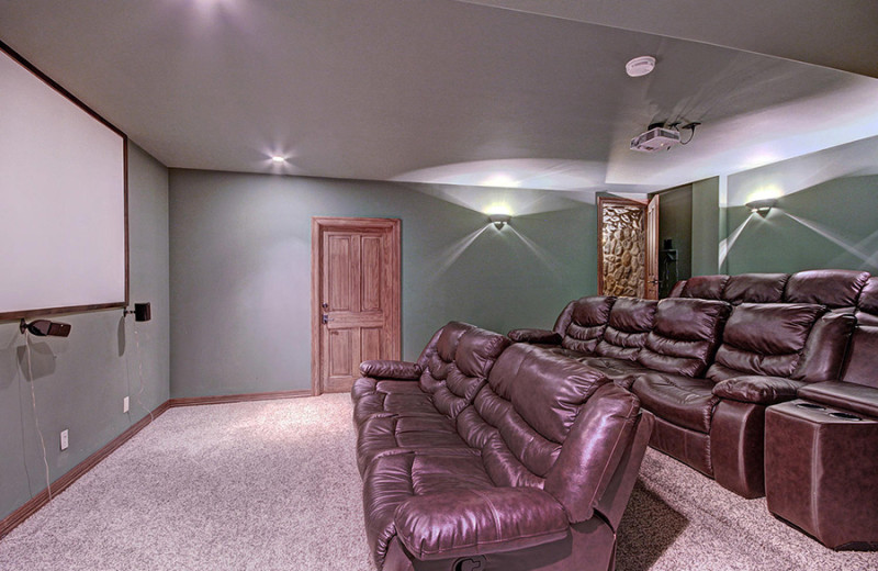 Rental theater room at Majestic Lodging.