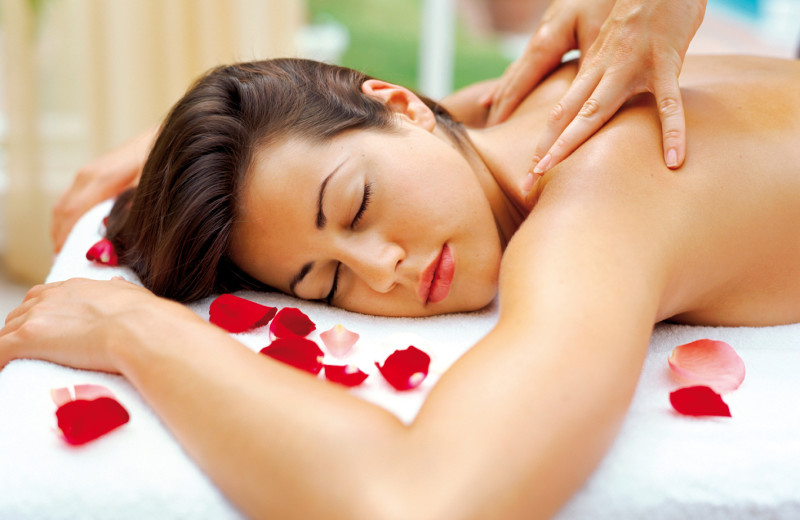 Back massage at Alisal Guest Ranch and Resort.
