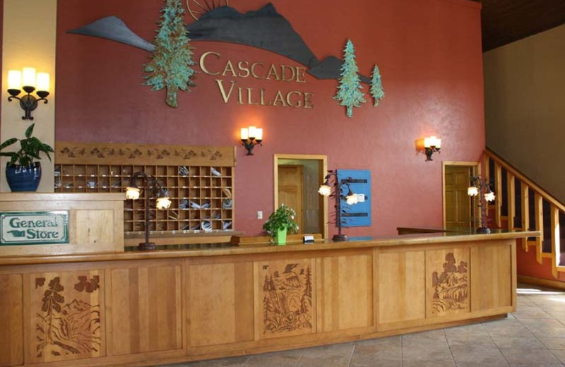 Lobby at Cascade Village Condominiums.