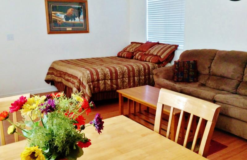 Cabin interior at East Glacier Motel & Cabins.