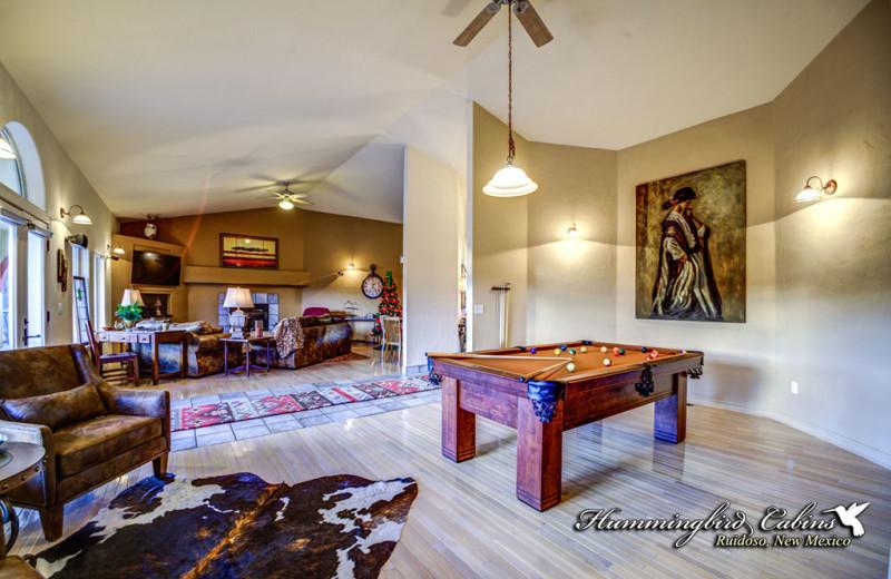 Rental interior at Hummingbird Cabins