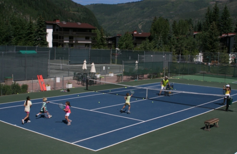 Tennis lessons at Vail Racquet Club.