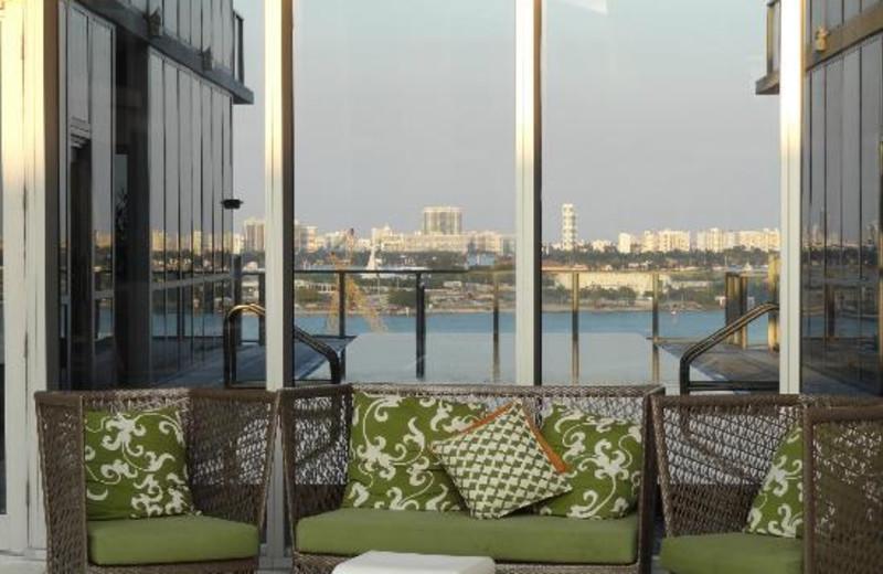 Patio chairs at Casa Moderna Miami.