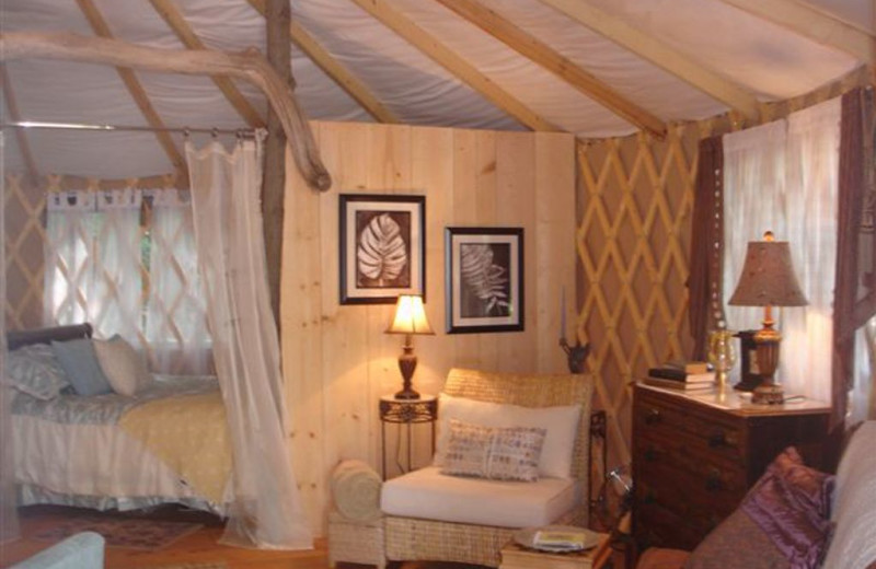 Yurt at The Spotted Sandpiper.