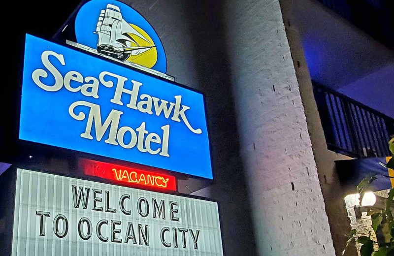 Entrance at Sea Hawk Motel.