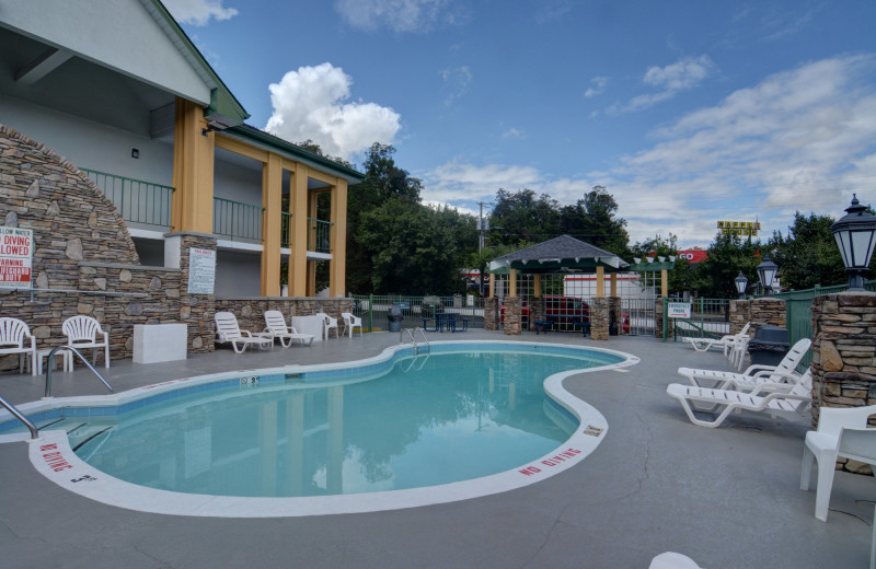 Outdoor pool at Quality Inn and Suites Biltmore East.