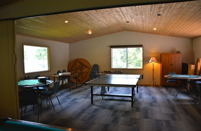 Game room at The Fireweed Lodge.