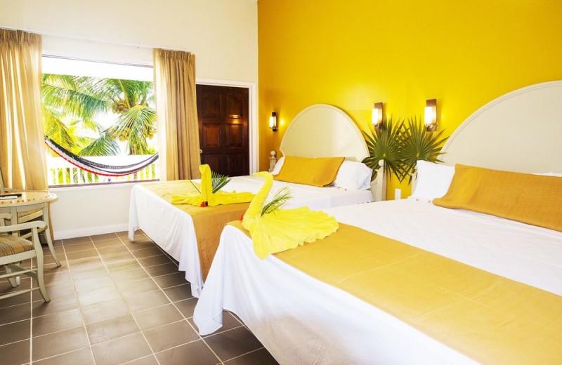 Guest room at Fantasy Island Beach Resort.