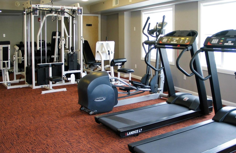 Fitness room at Shalimar Resort and Conference Center.