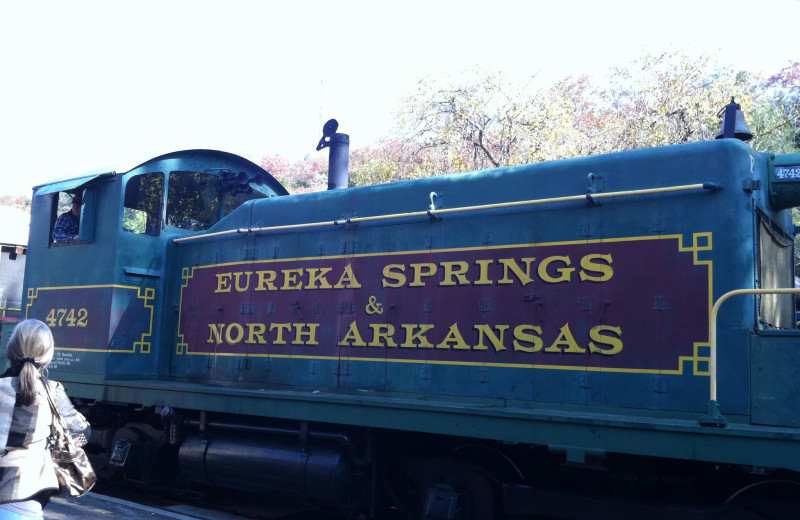 Train ride near Cabin Fever Resort.