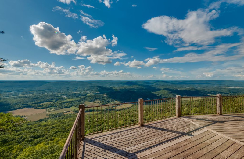 Rental deck at Chattanooga Vacation Rentals.
