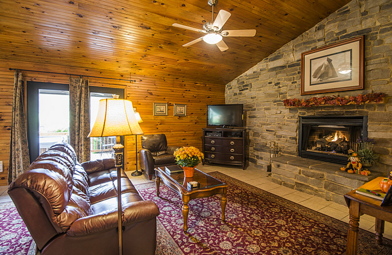 Cottage living room at Steele's Tavern Manor B&B.