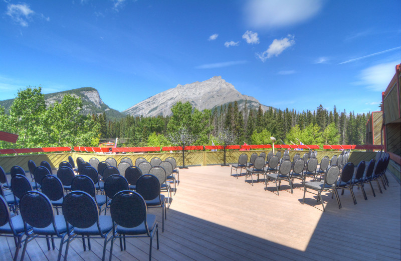 Patio at Inns of Banff.