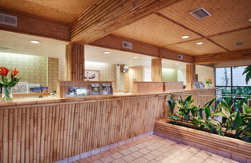 Lobby at The Winds Resort Beach Club.