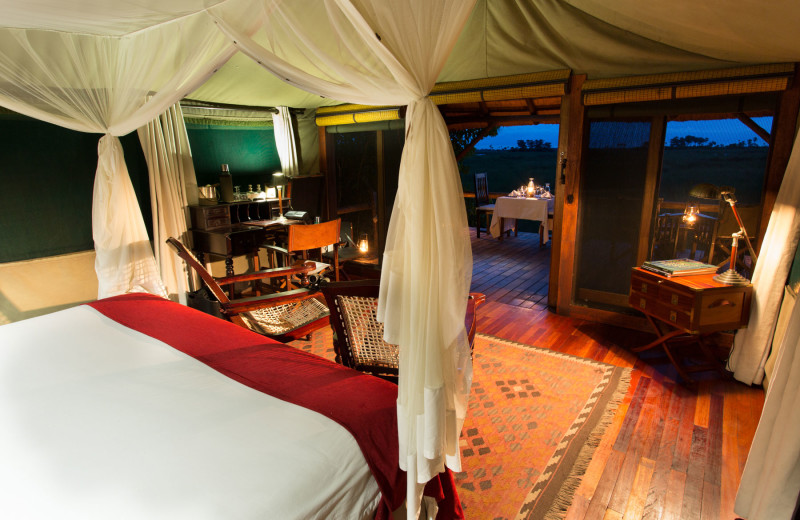 Guest room at Selinda Camp.