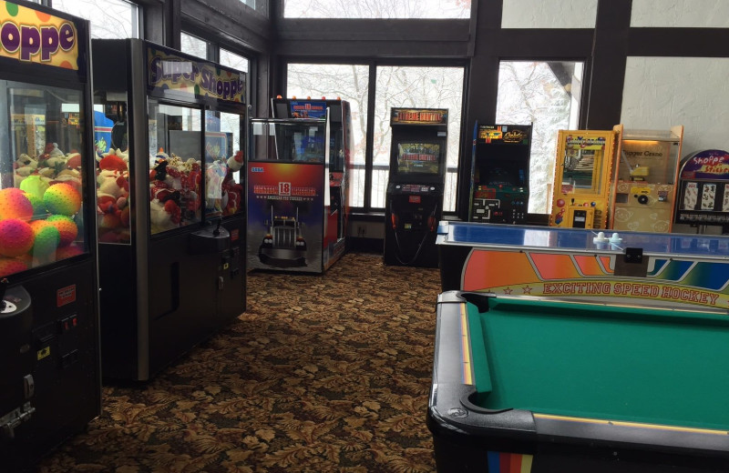 Arcade at Cragun's Resort and Hotel on Gull Lake.