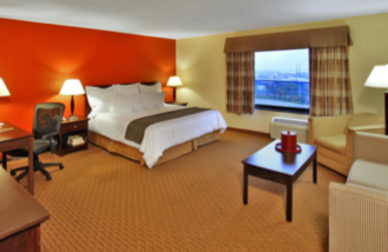 The mini-suites include a sofabed and oversized armchair at Best Western Baltimore.