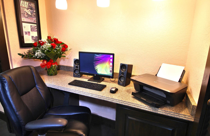 Business center at Peach Tree Inn & Suites.