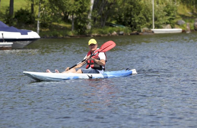 Kayaking at Hidden Valley Resort Muskoka