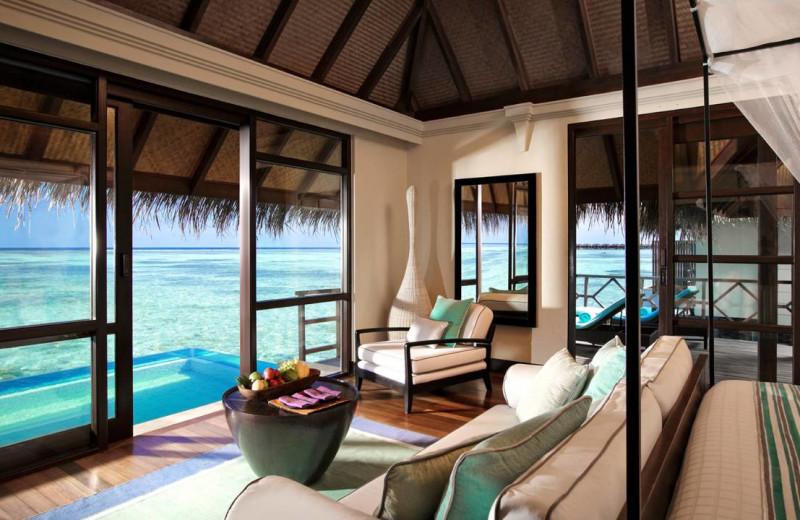 Guest room at Four Seasons Resort - Maldives at Kuda Huraa.